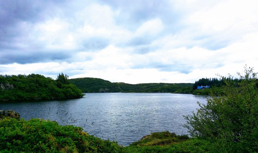 Lake Hredavatn in Borgarfjordur