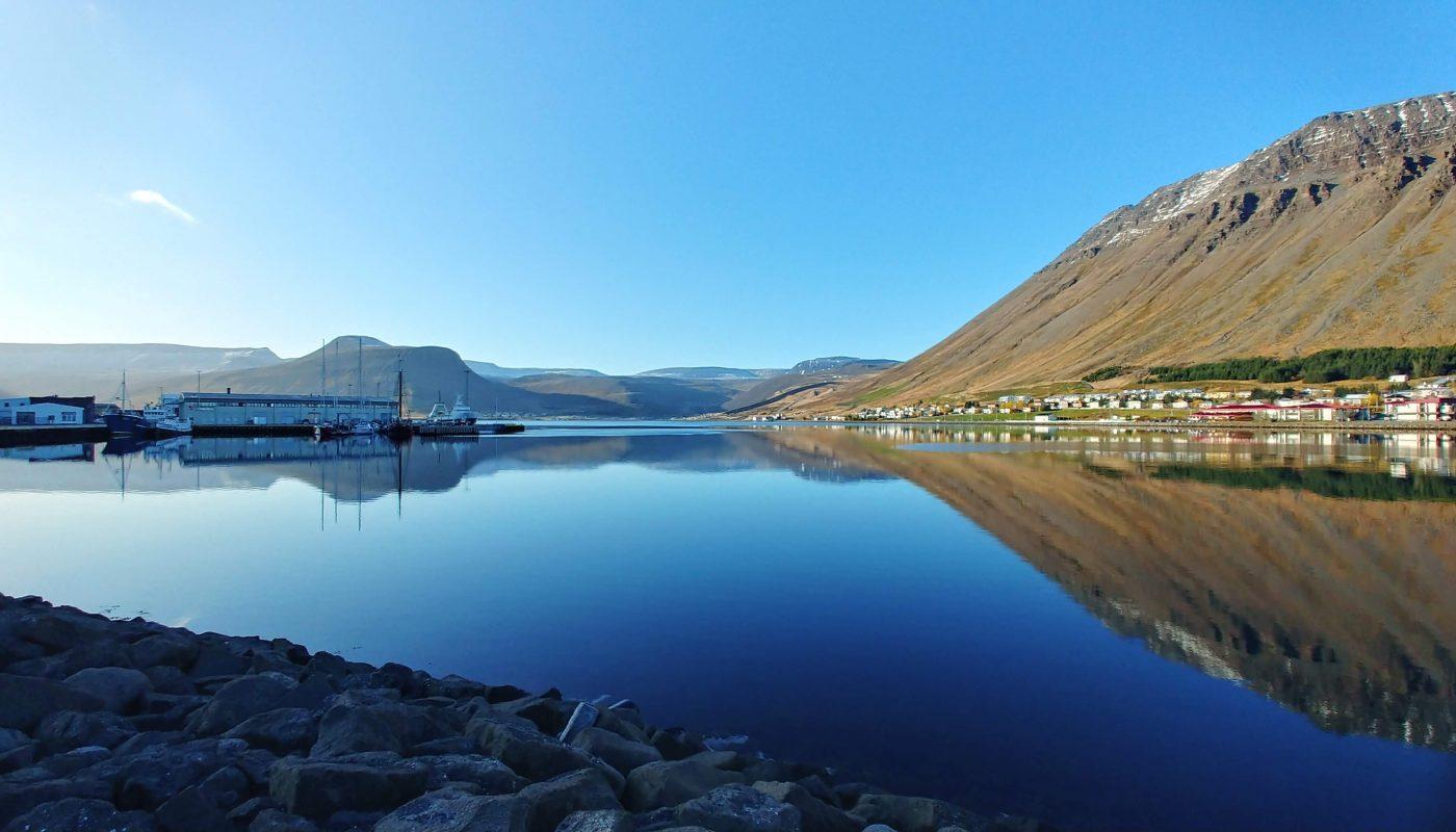 Autumn in Isafjordur Town