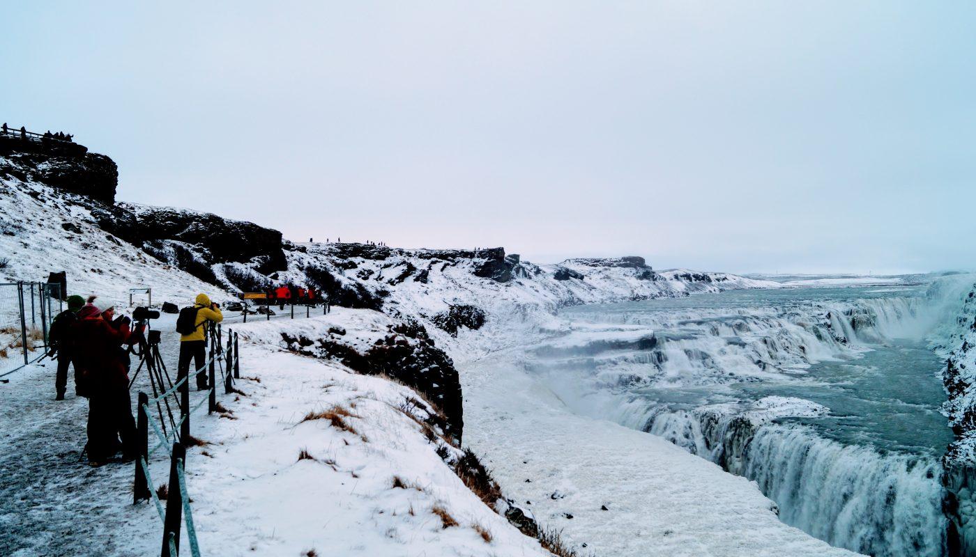 Gullfos in Winter