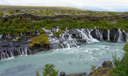 Hraunfossar Waterfalls Borgarfjordur