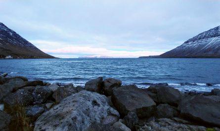 Shore at Isafjordur Town