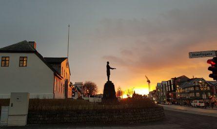 Sunset Downtown Reykjavik