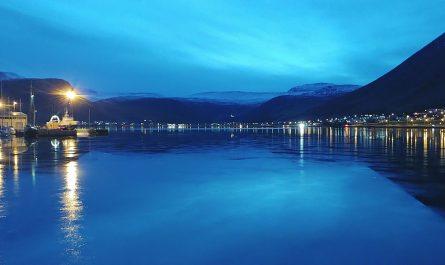 Lights In Isafjordur Town