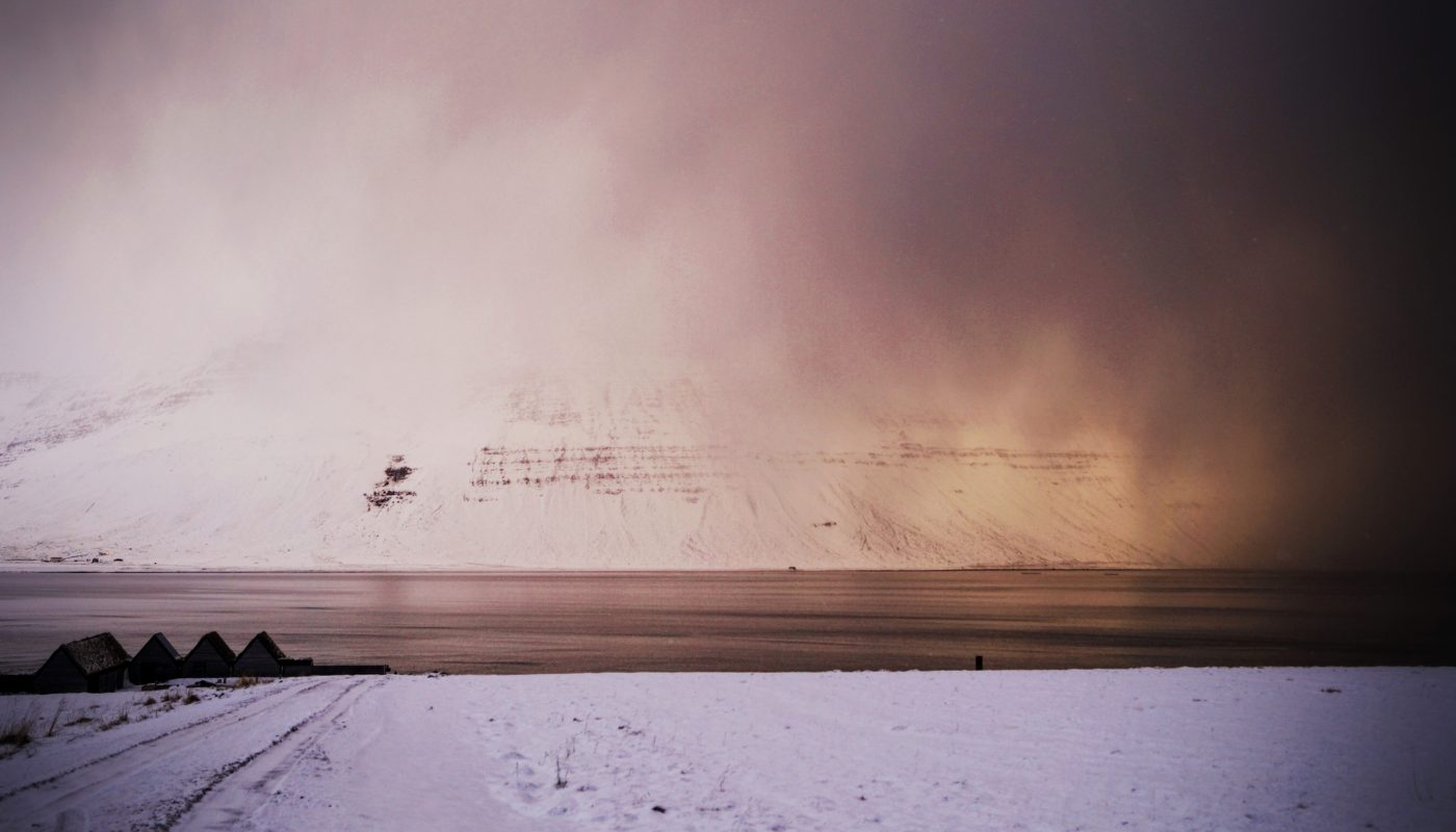 Snowstorm in Onundarfjordur