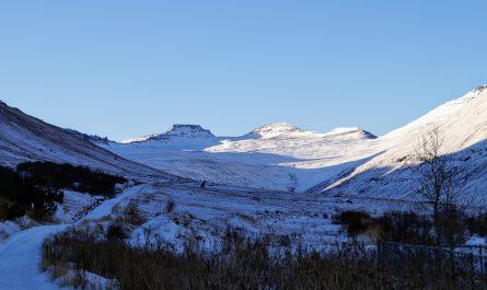 Three Peaks In Hnifsdalur Valley