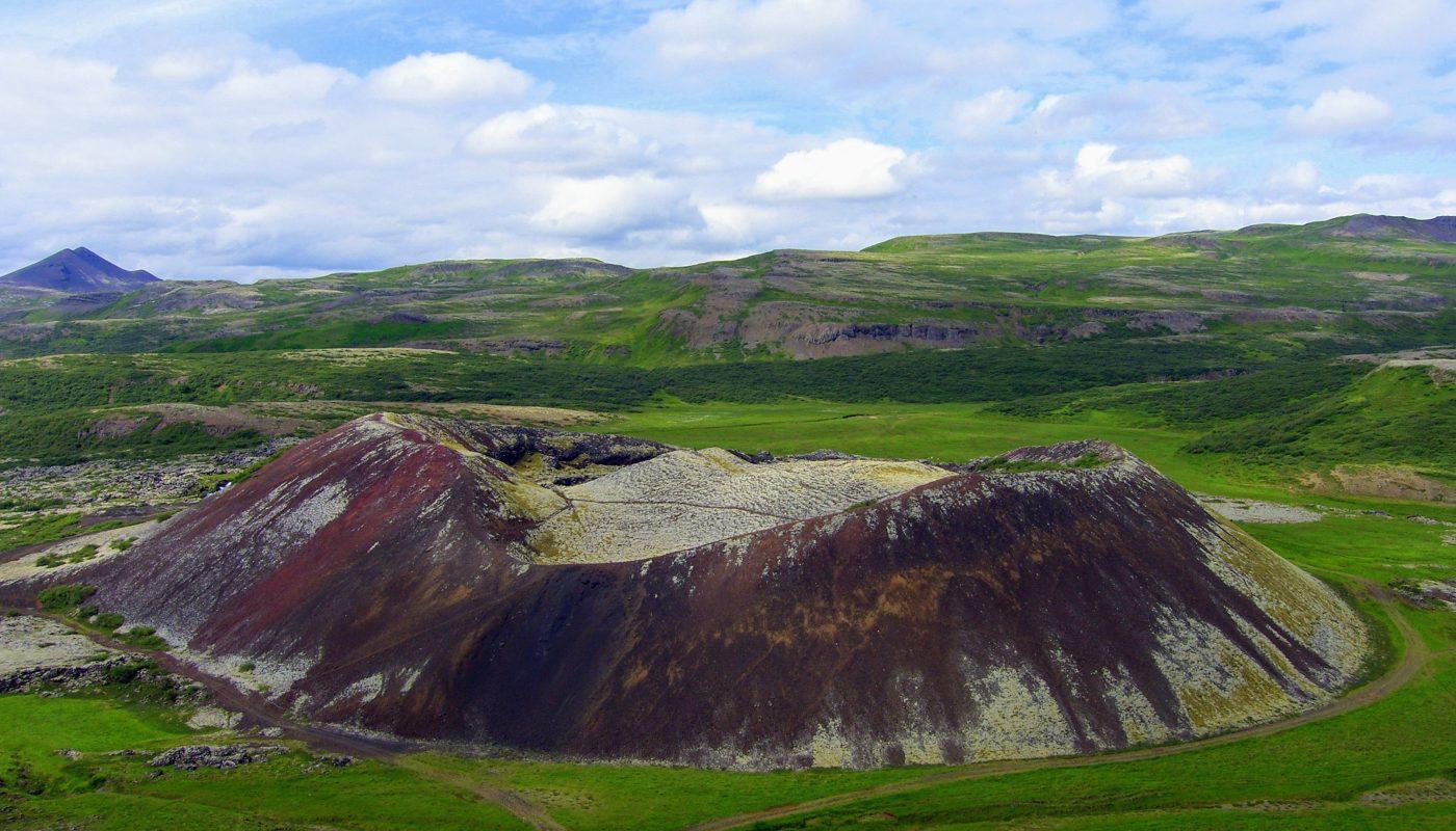 Volcano Grabrokarfell Borgarfjordur