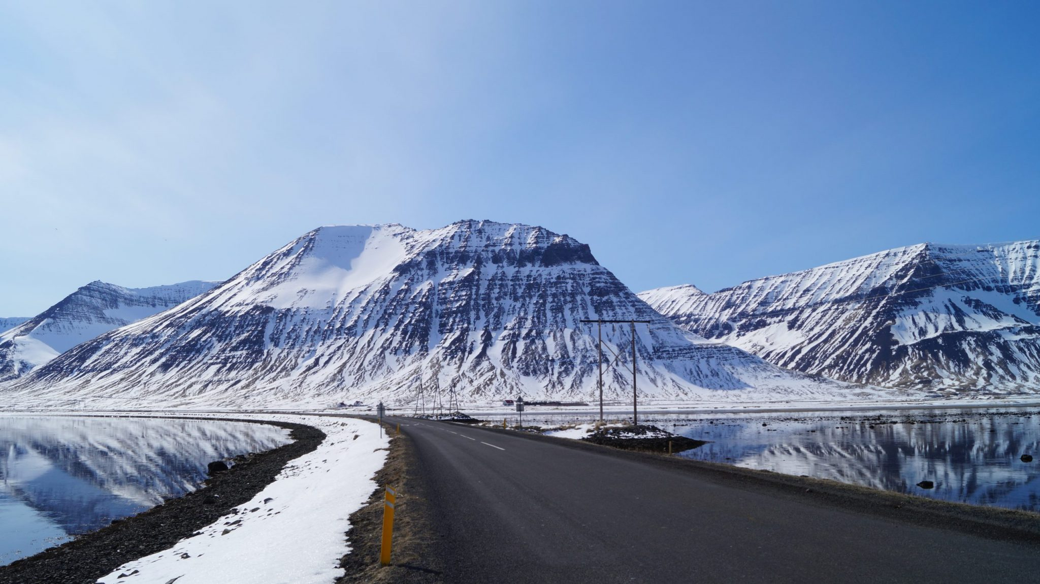 Good Road Conditions in Önundarfjörður Fjord