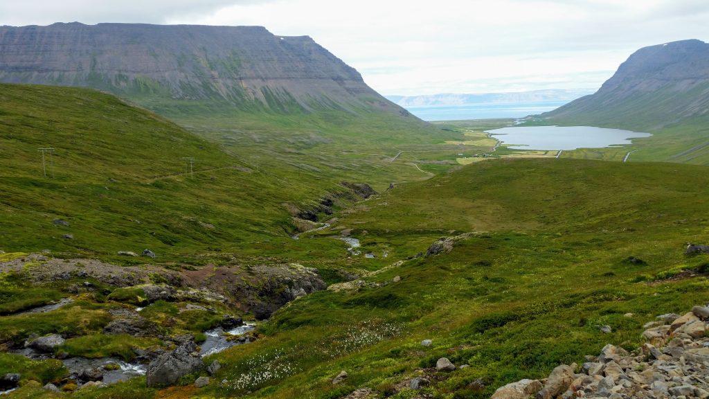 River in Syðridalur Valley in Bolungarvík