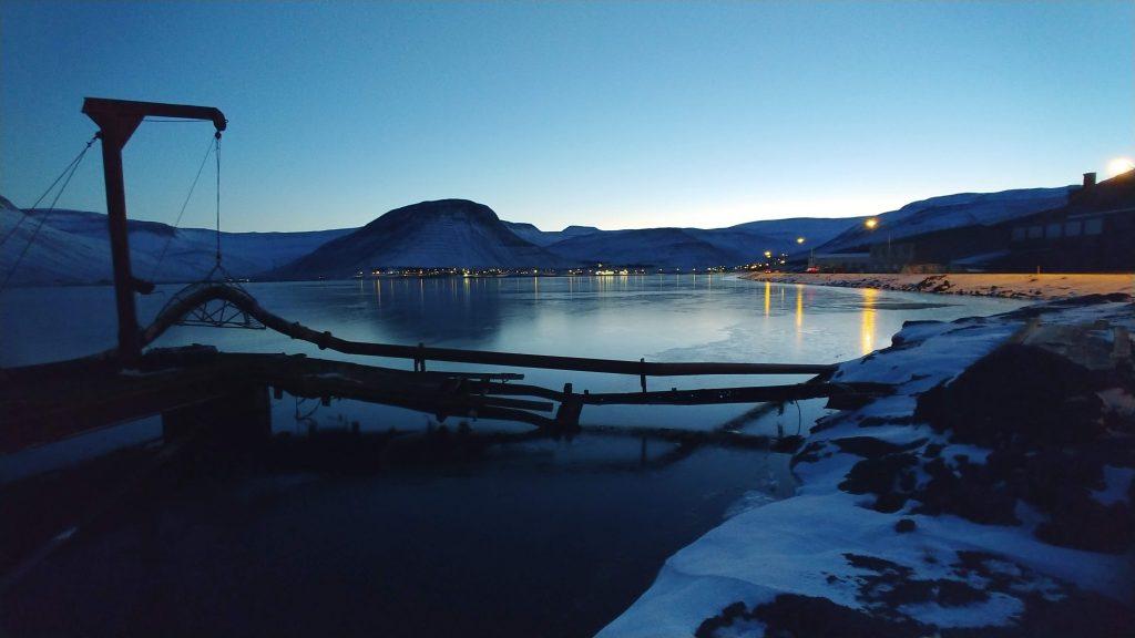Winter in Ísafjörður Town