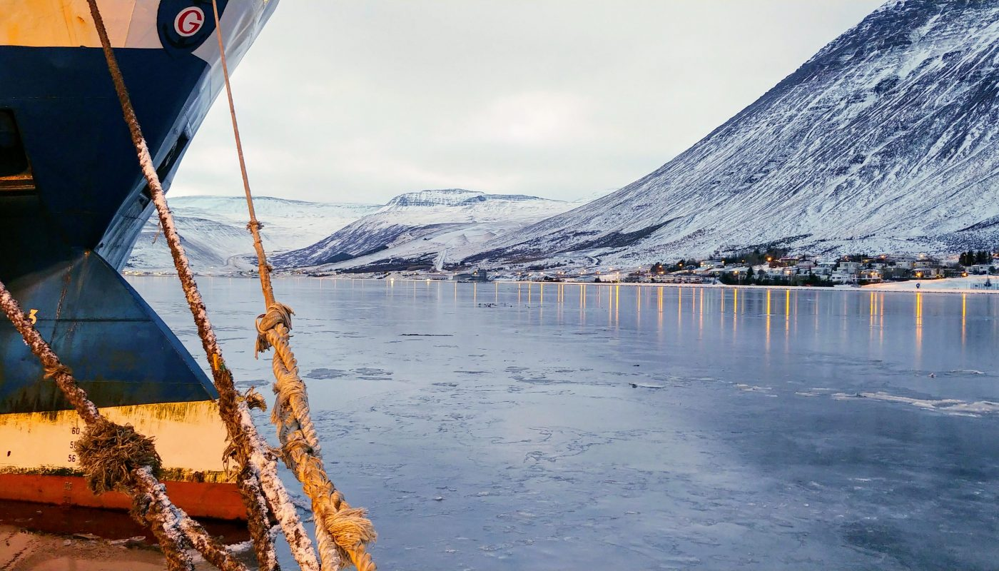 Trawler At Isafjordur Port
