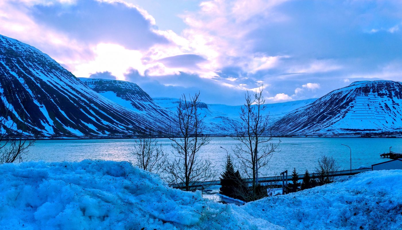 February Saturday in Isafjordur Town
