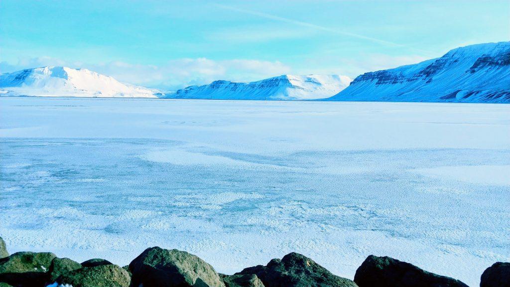 Winter View From Gilfjörður Bridge