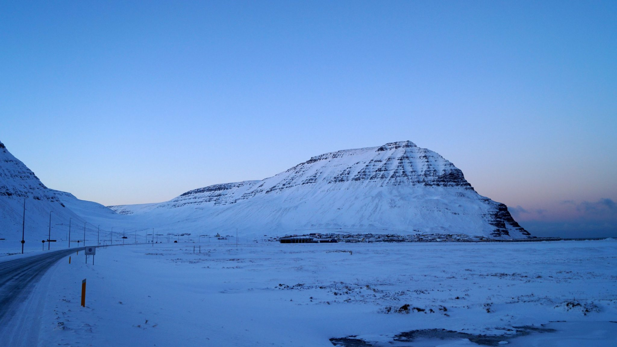 Bolafjall Mountain Above Bolungarvik Town