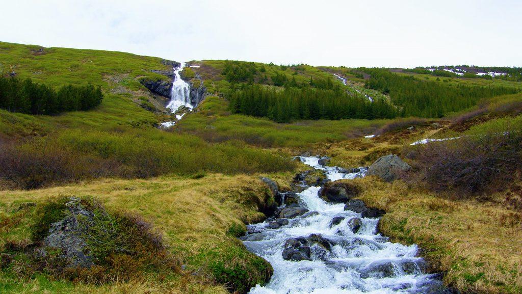 Waterfall Tungudalsfoss Isafjordur - Westfjords