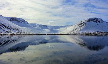 Mountains Around Isafjordur Town