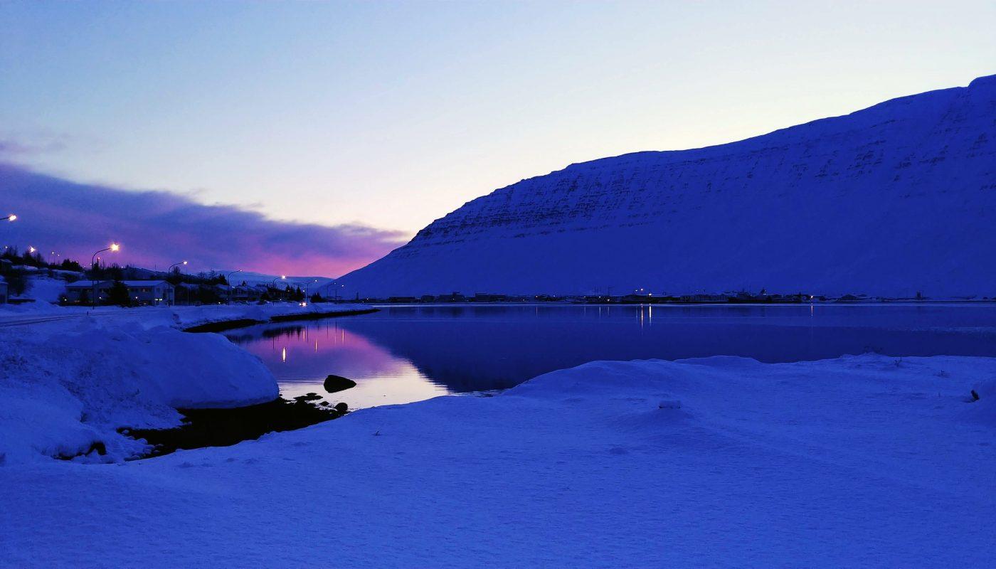 Winter Morning in Isafjordur Town