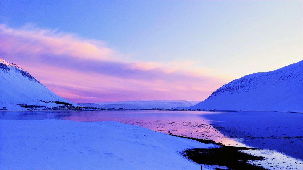 Magical Sunrise in Isafjordur Town