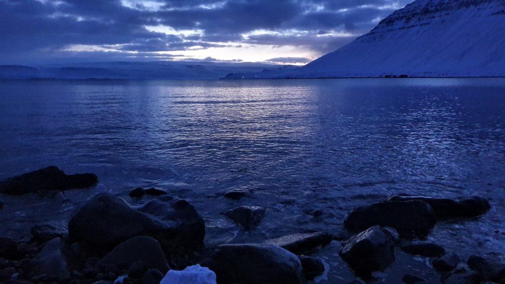 Winter Dawn In Isafjordur Town