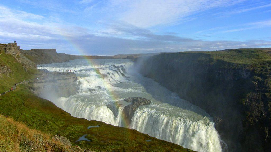 Gullfoss Waterfall South