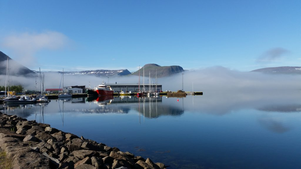 Summer Morning at Isafjordur Harbour