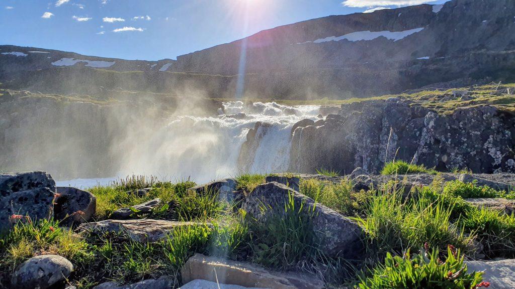 One of Dynjandi Waterfalls
