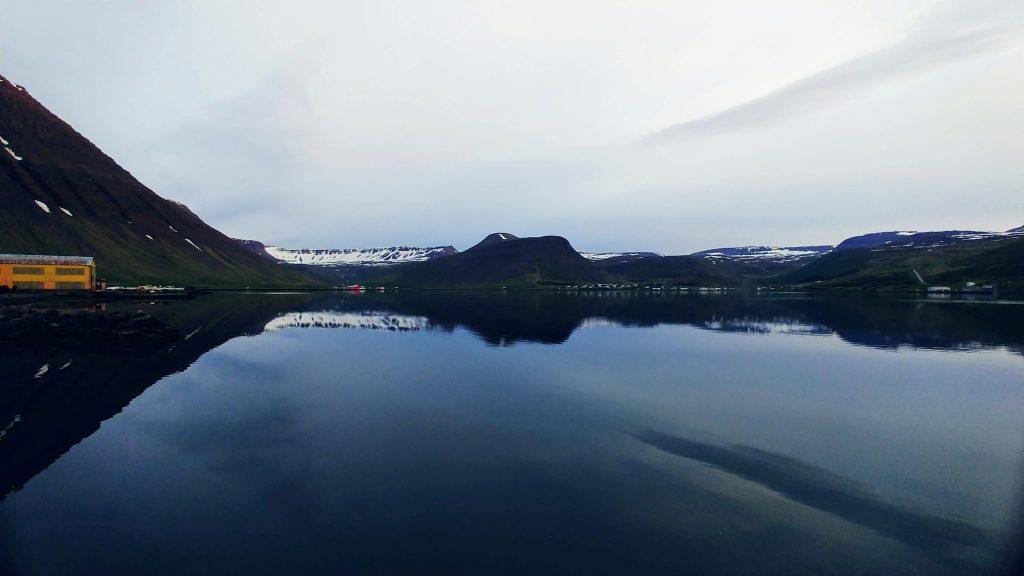 Midnight At Isafjordur Harbour