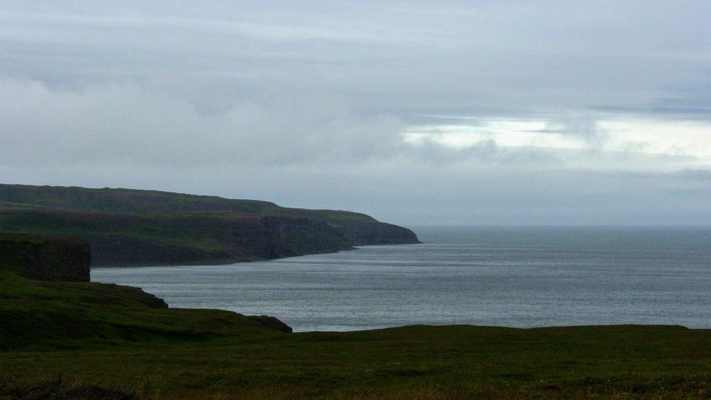 Black Cliffs Blue Ocean