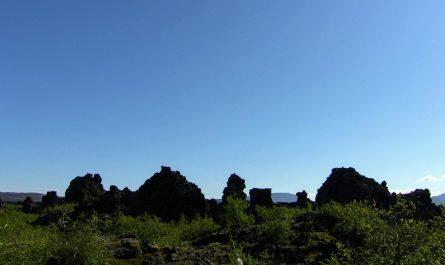 Sunshine and Lava Shadows In Dimmuborgir