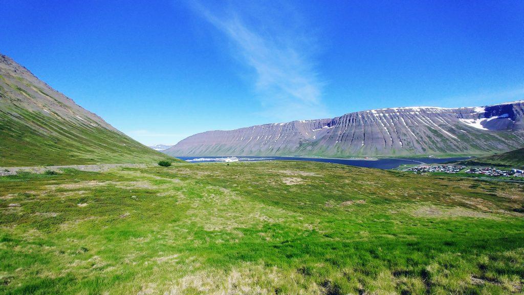 Ísafjörður Seen From Seljalandsdalur