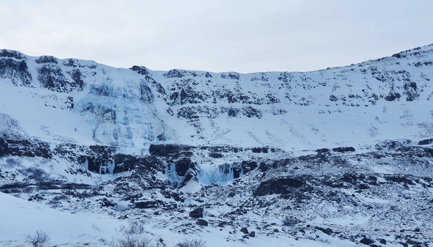 Dynjandi Waterfalls In Winter