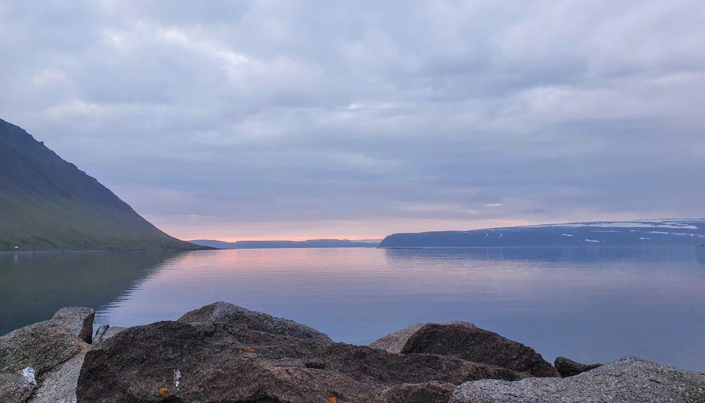 Still Summer Evening at Isafjordur Bay