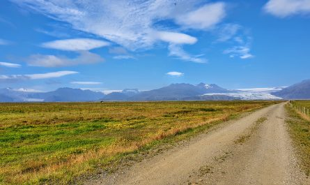 Glacier view in Hornafjörður
