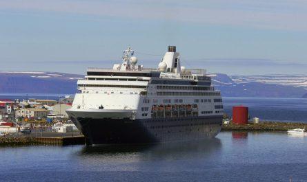Large Cruise Ship in Isafjordur Town