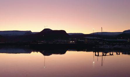 Winter Sunset In Isafjordur