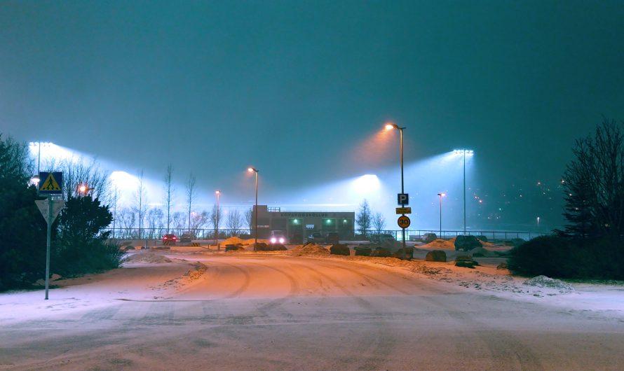 Flood Light Snowfall