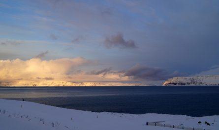 View of Jokulfirdir as seen from Hnifsdalur