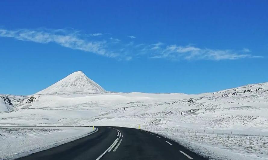 Mountain Views On Route From Reykjavik to Borgarfjordur