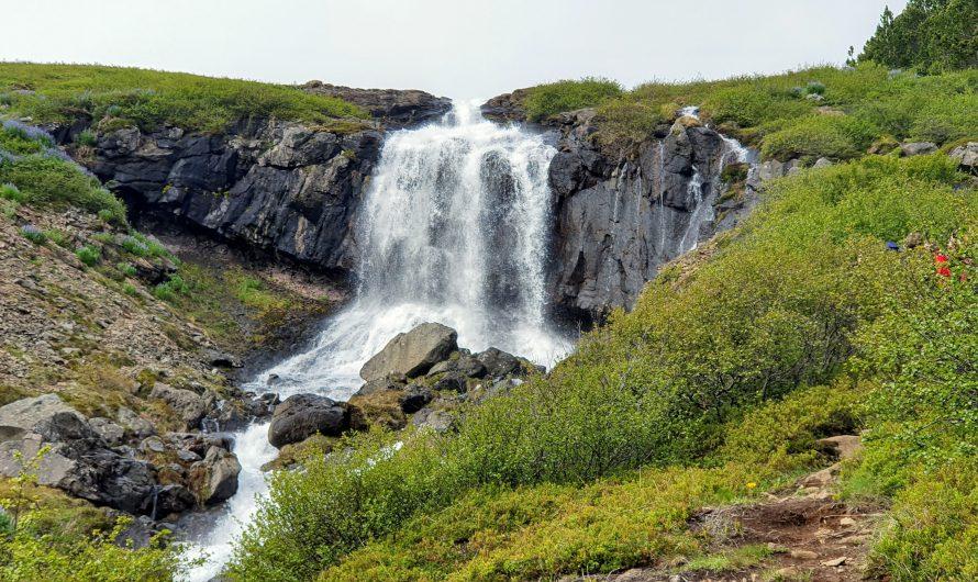 Hiking Along Waterfall